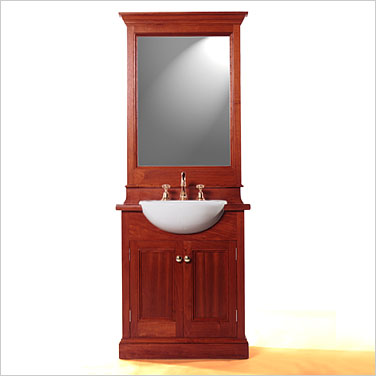 colonial 750 forward mount timber bathroom vanity with deluxe mirror click to view product details