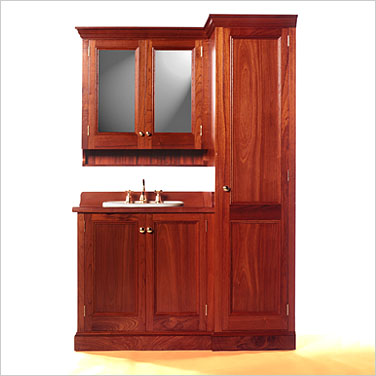 colonial 900 timber bathroom vanity with linen press and shaving cabinet click to view product