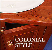 Click to view Colonial Living Colonial style of timber bathroom vanities.