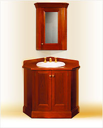 Colonial living traditional timber bathroom vanities in for Colonial style bathroom vanities