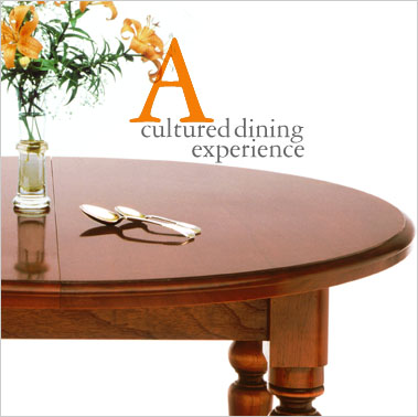 The Circular Solid Cedar Extension Dining Table Is Made